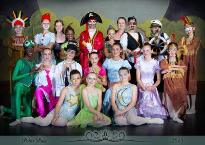 Liezel Marais Dance Academy - Show 2013 - Peter Pan - Main Characters and teachers
