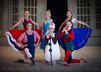 Liezel-Marais-Dance-Academy-The-Ruby-Slipper-2015-Elsa,-Anna,-Olaf,-Heidi,-Peter,-Pied-Piper